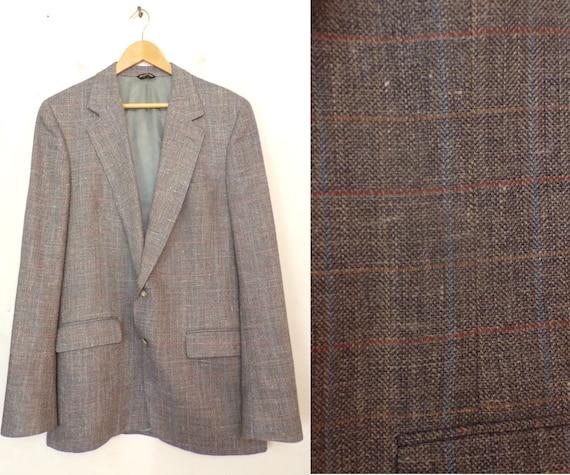 Vintage Gray /& Red Plaid Sport Coat Mens Size 42 Classic Plaid Sport Coat 90s Kenneth Cole Gray Plaid Sport Coat Preppy Gray Plaid Blazer