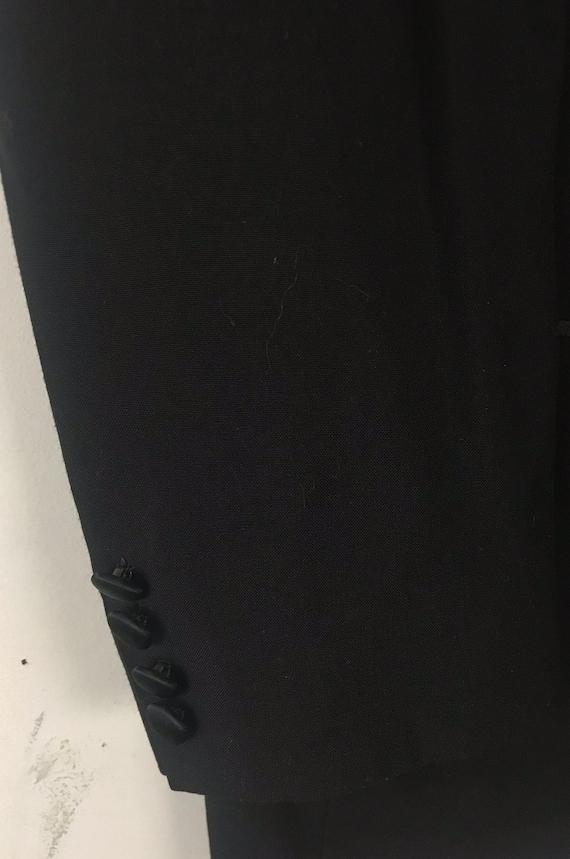 90s Black Tuxedo Jacket Mens Size 42, Formal Even… - image 5