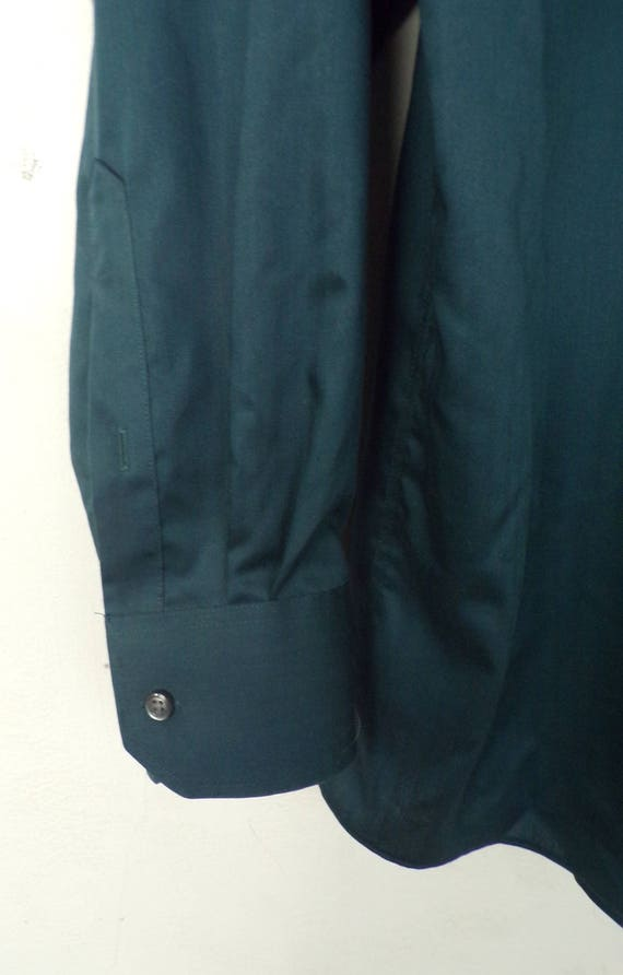 90s Joseph Abboud Teal Dress Shirt Mens Tall 17 3… - image 4