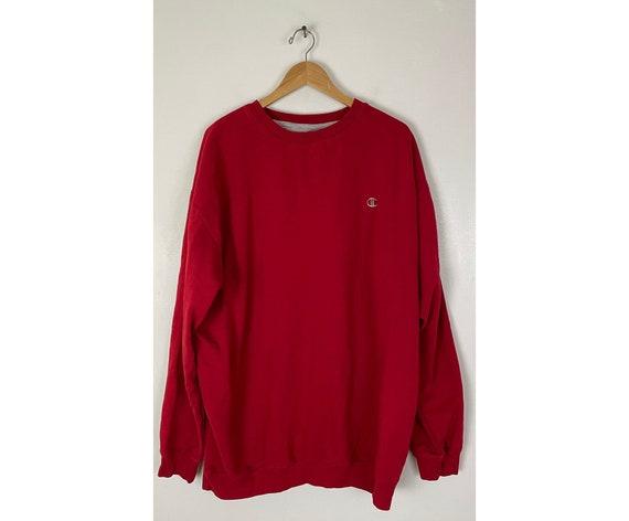 Vintage Champion Red Crew Neck Sweatshirt Mens Siz