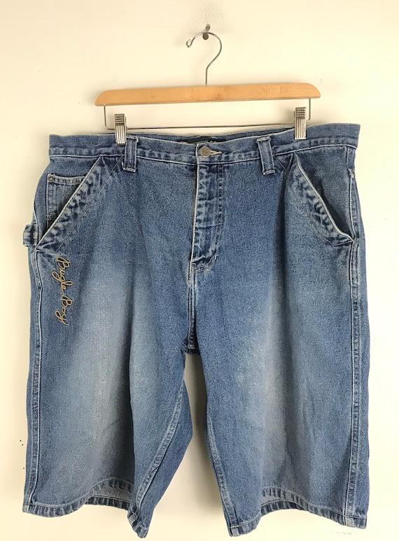 Vintage Bugele Boy Light Wash Jean Shorts Mens Si… - image 2