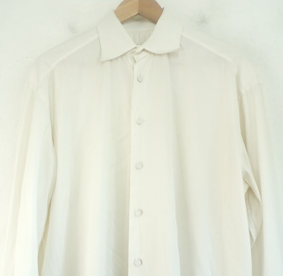 Cuff 15 38 Dress 90s Shirt White French Prada Designer Mens Prada Cuff High Formal Shirt Shirt Size Dress Mens End French 5 Prada Mens qzqU74