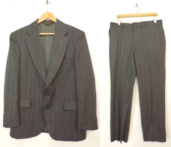 Bill Blass Mens Plaid Suit Vintage Bill Blass Light Brown Plaid Two Piece Suit Mens 42R /& 36 Waist Plaid Suit Light Brown Suit Dark Tan