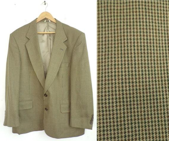 Vintage Bill Blass Brown Tweed Sport Coat Mens Siz