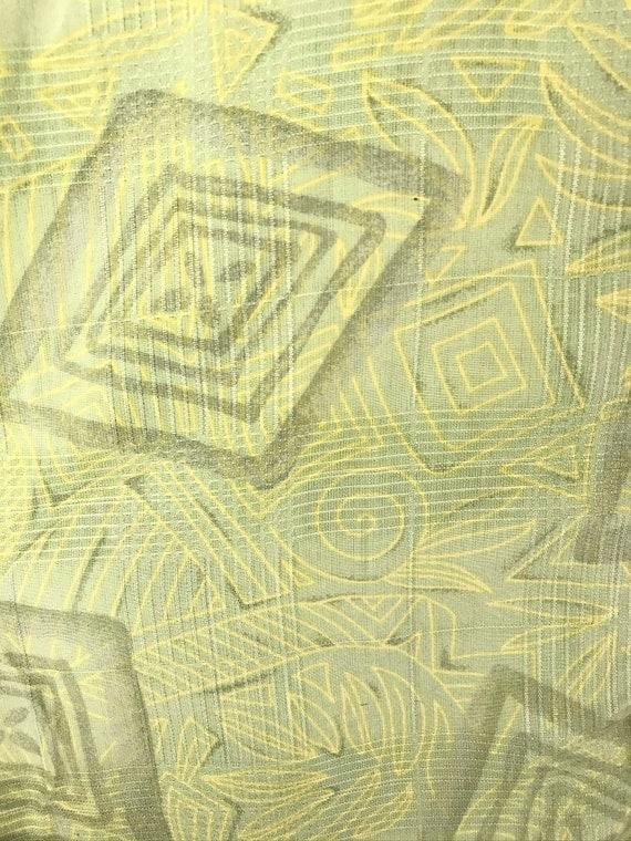 90s Light Green Abstract Print Silk Shirt Mens XL… - image 4