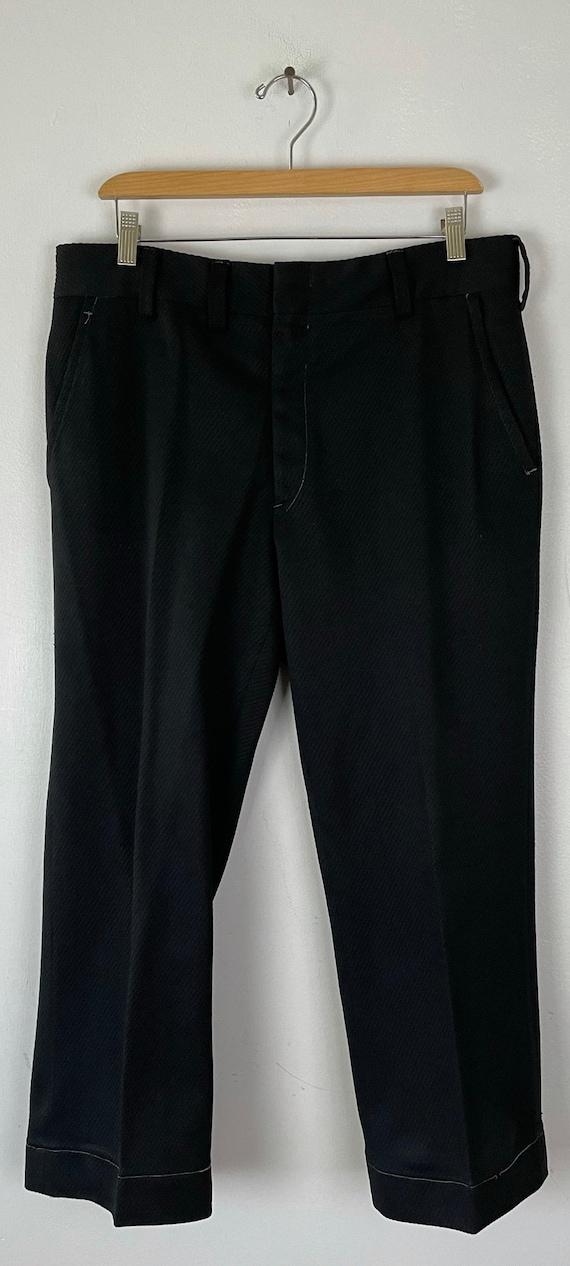 Vintage Black Print Cropped Pants Mens Size 34 Wa… - image 2