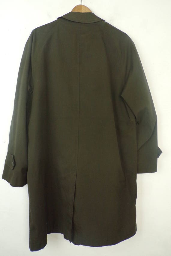 80s Alligator Brand Green Trench Coat Mens Size 4… - image 9