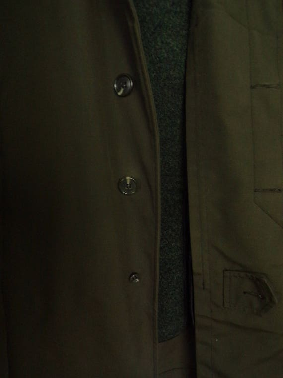 80s Alligator Brand Green Trench Coat Mens Size 4… - image 5