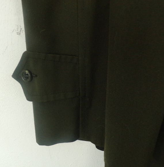 80s Alligator Brand Green Trench Coat Mens Size 4… - image 4