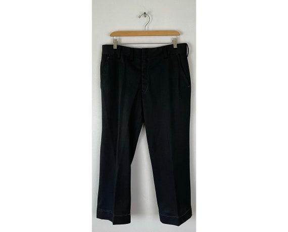 Vintage Black Print Cropped Pants Mens Size 34 Wa… - image 1