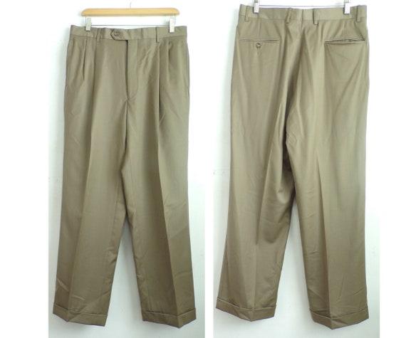 90s Jos A Bank Tan Dress Pants Mens Size 34x30, Pl