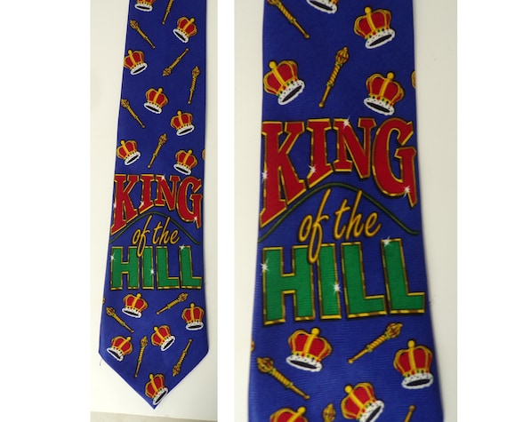 90s King of the Hill Mens Tie, Novelty Tie, Mens N