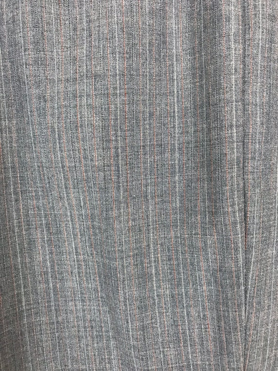 70s Blue Gray Pinstriped Two Piece Suit Mens Size… - image 6