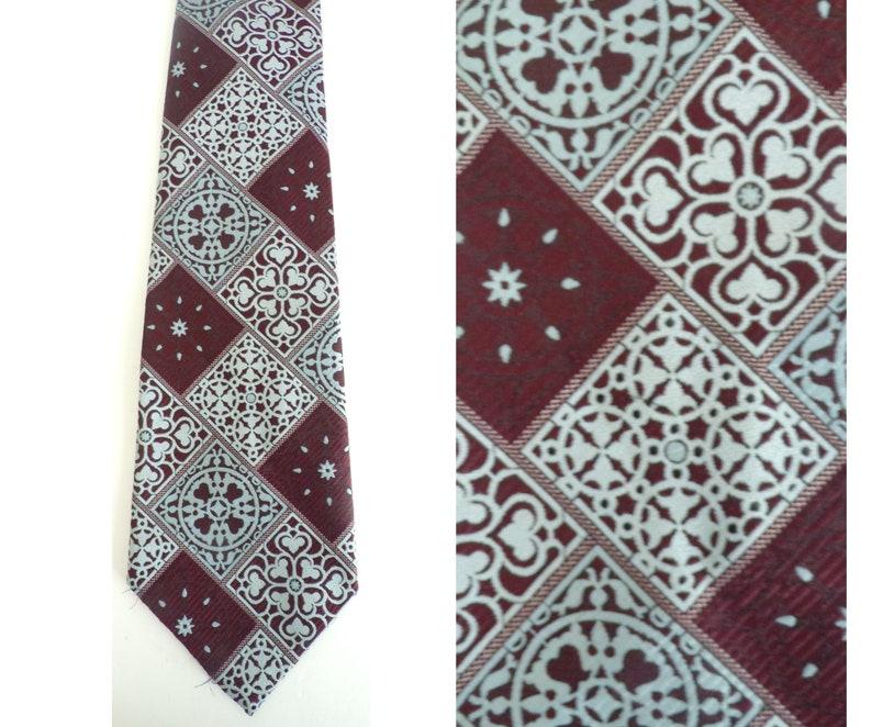 60s Brown /& Light Blue Abstract Print Wide Tie Wide Tie Brown Tie Light Blue Retro 60s Tie Throwback Formal Mens Necktie Print Tie