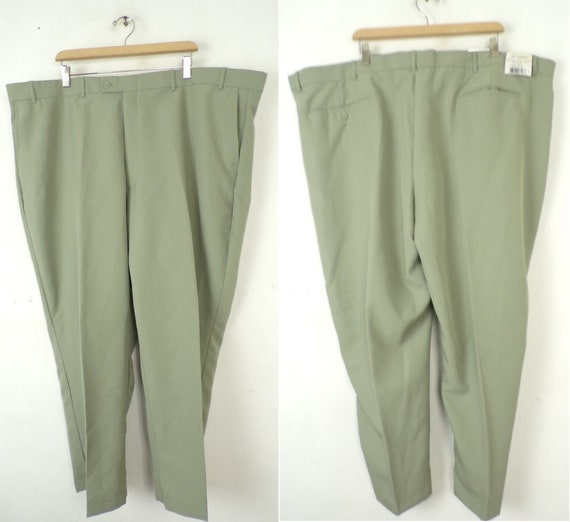80s Haband Green Pants Mens Size 52x28, New Old St