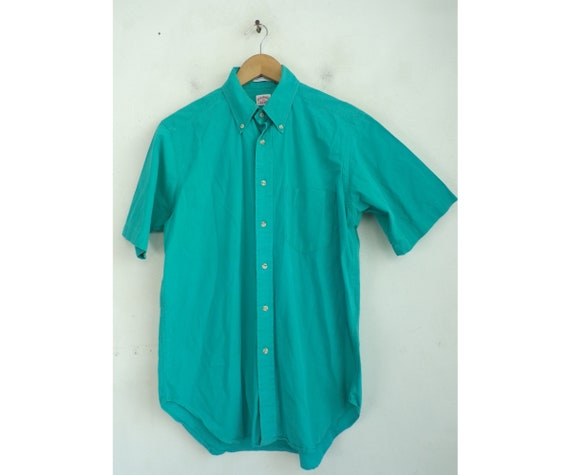 Vintage Brooks Brothers Teal Button Front Shirt Me