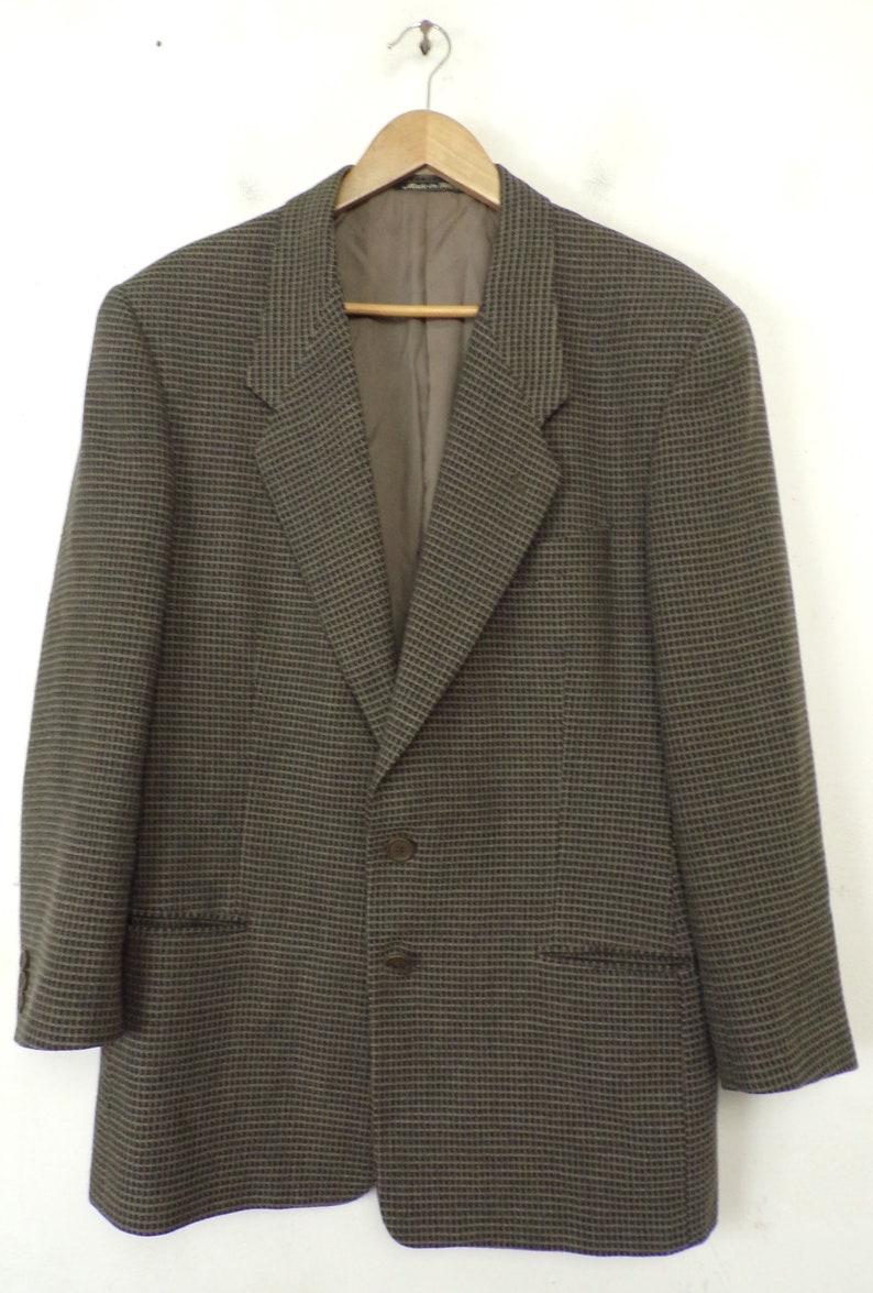 1b35cf64f529d Vintage Giorgio Armani Gray Checkered Blazer Mens 40R Gray