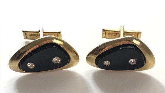Vintage 1950s Cufflinks Enameled Copper Square Wedding Grooms Gift