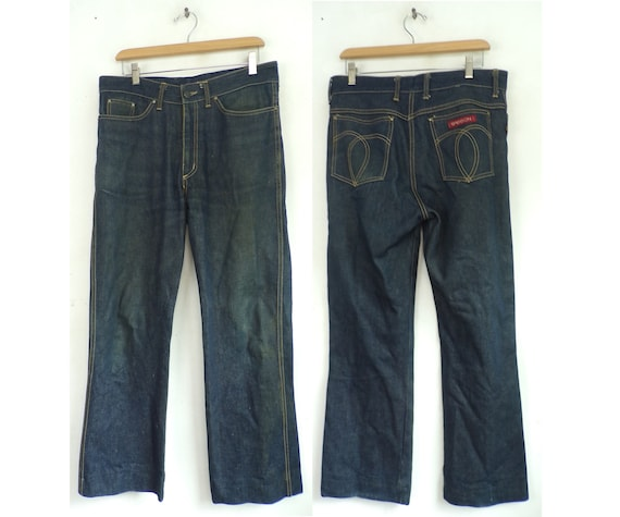 Vintage Sasson Dark Wash Jeans Mens 34 Waist, Dark