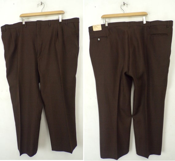 Vintage Brown Pants Mens Size 52x27, New Old Stock