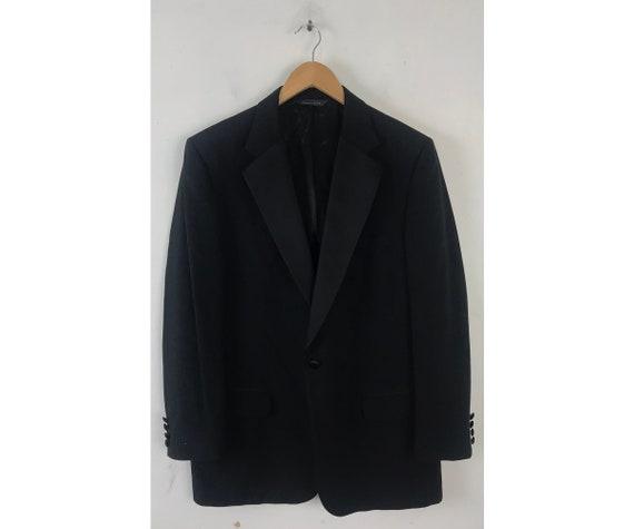 90s Black Tuxedo Jacket Mens Size 42, Formal Even… - image 1