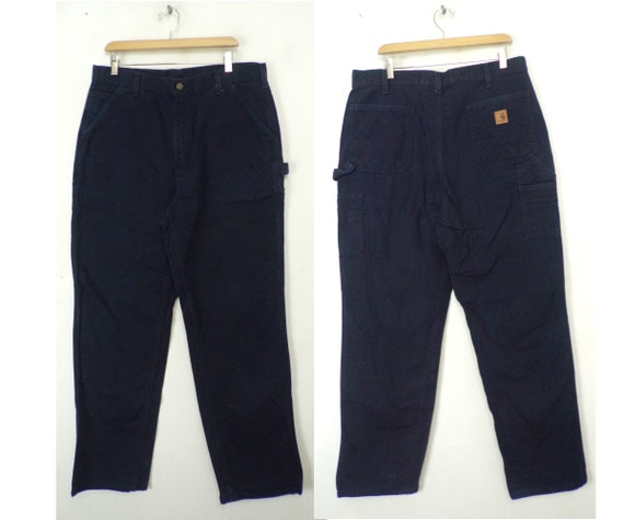 Vintage Carhartt Pants , Dark Blue Cargo Pants Men
