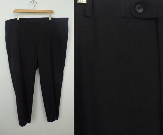 90s Joseph Abboud Black Dress Pants Mens Size 44x25 Black Etsy