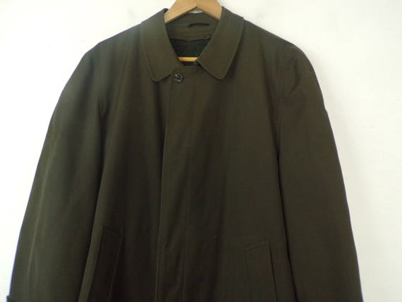 80s Alligator Brand Green Trench Coat Mens Size 4… - image 3