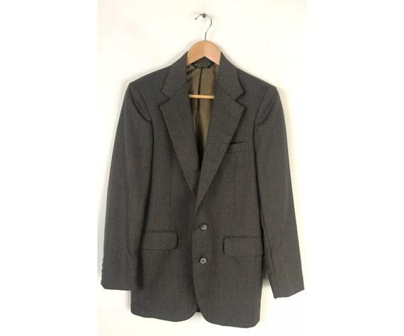 80s Dark Brown Sport Coat Mens Size 36, Vintage Cl
