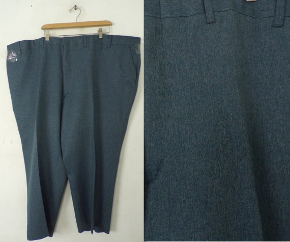 Vintage  54 x 25 Pants,  Mens  Blue Big Pants, Dar