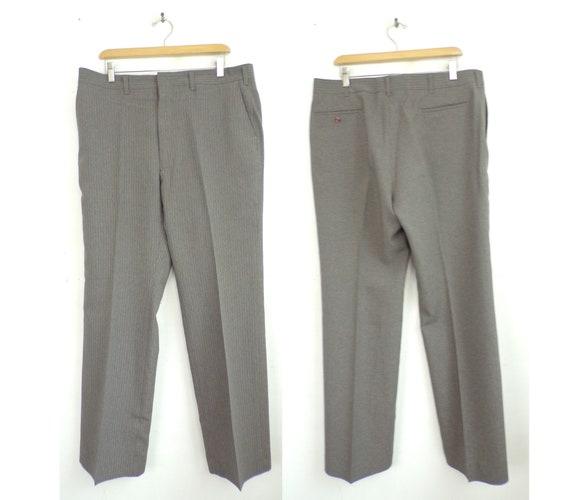 Vintage Brown & Blue Striped Dress Pants Mens Size