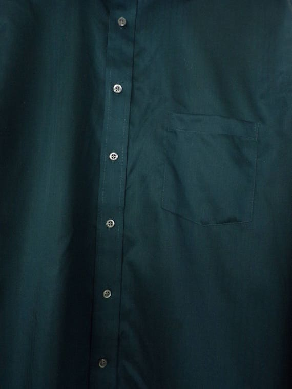 90s Joseph Abboud Teal Dress Shirt Mens Tall 17 3… - image 5