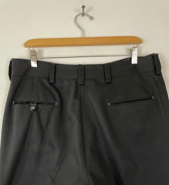 Vintage Black Print Cropped Pants Mens Size 34 Wa… - image 6