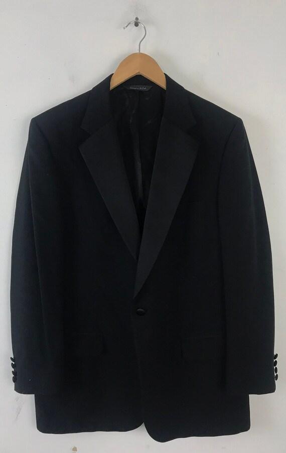 90s Black Tuxedo Jacket Mens Size 42, Formal Even… - image 2