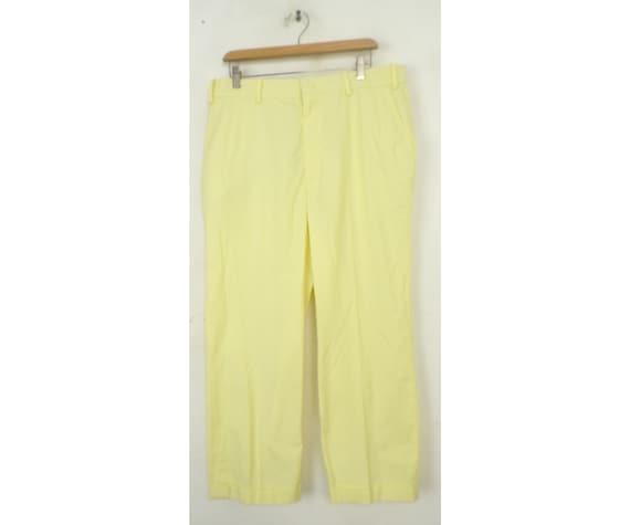 Vintage Orvis Yellow Golf Pants Mens 36 Waist, Lig