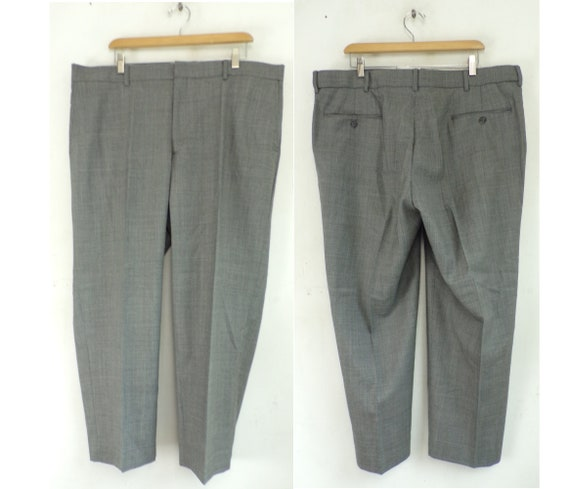 Vintage Bert Pulitzer Gray Dress Pants Mens 42x28,
