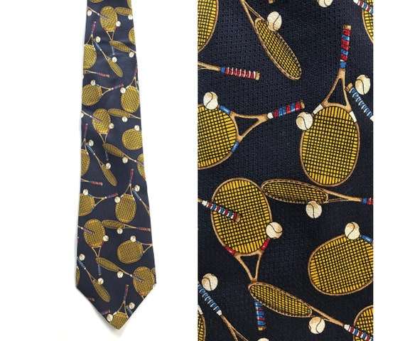 Vintage Tennis Tie, Tennis Racquets & Balls, Tenni