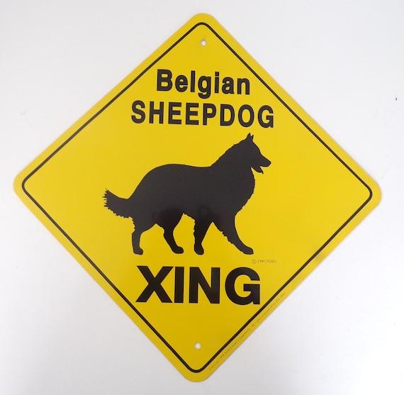 "13/"" x 13/"" plastic Boxer sign xing Crossings animal dog"
