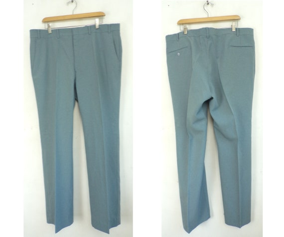Vintage Blue Gray Pants Mens 40 Waist, Blue Gray,