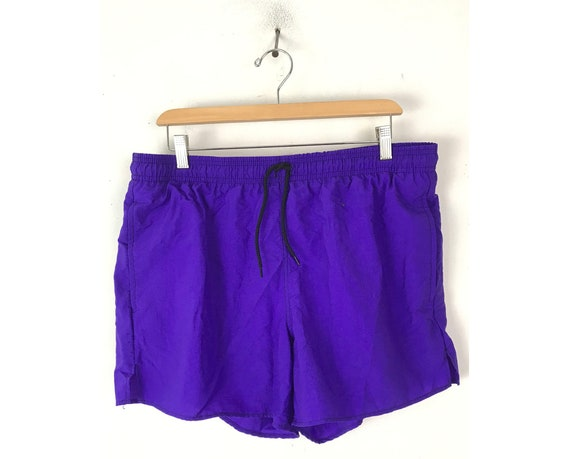 Vintage Neon Purple Swim Trunks Mens Large, Mens S