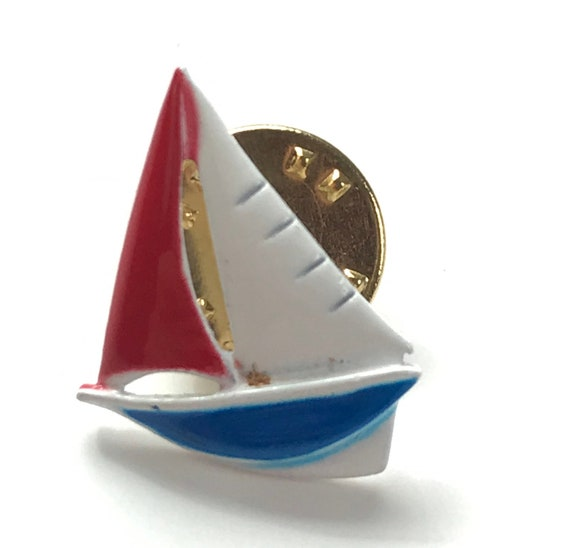 Sail Boat Tie Tack Sail Boat Lover Gift Schooner Tie Tack Sail Boat Cabochon Vintage Boat Tie Tack
