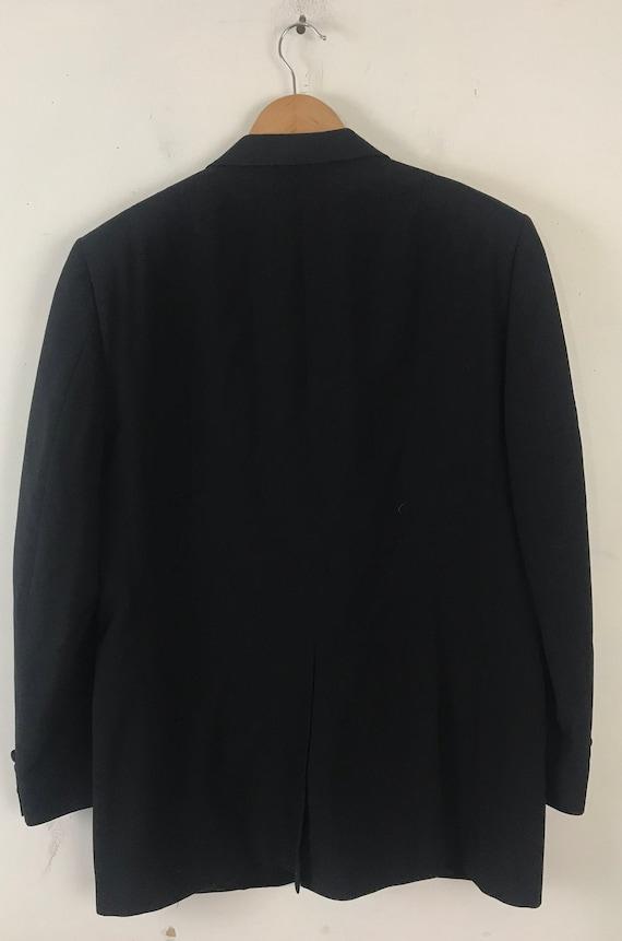 90s Black Tuxedo Jacket Mens Size 42, Formal Even… - image 6