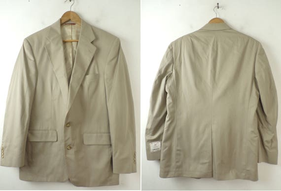Mens Coat Sport Stock 90s Size Tan Tan Coat A 180 Cotton Classic Bank 43L Jos Formal Jos Blazer Mens A Bank Sport New Old Blazer RV UrTxqawvU
