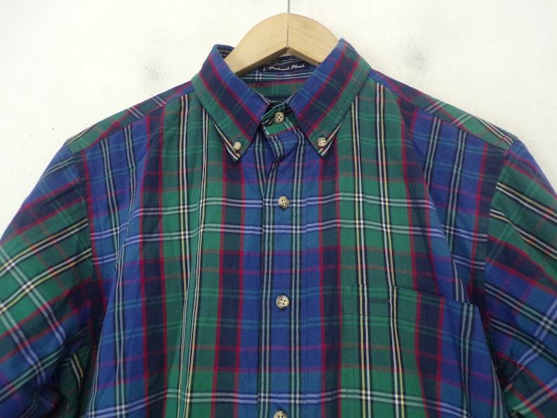 Mens Plaid Shirt Vintage Blue Green /& Red Plaid Shirt Mens Medium Gant 80s Plaid Green Plaid Green Plaid Shirt Throwback Retro Plaid