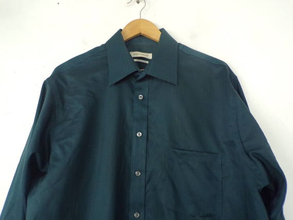 90s Joseph Abboud Teal Dress Shirt Mens Tall 17 3… - image 3