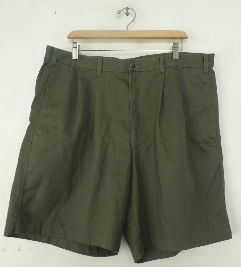 90s Dockers Olive Green Pleated Shorts Mens Size 40 Khaki Etsy