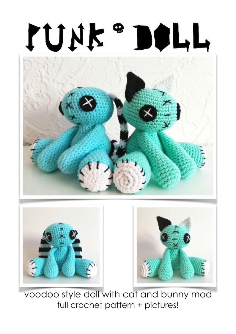FULL PATTERN: Creepy Cute Voodoo Doll crochet pattern with Cat image 0