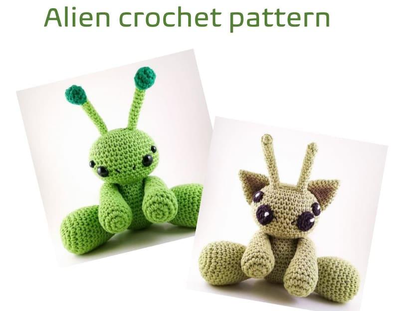 PATTERN ONLY  Cute Alien Doll Crochet Pattern  Kawaii Alien image 0