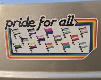 Pride for All - rainbow boarder