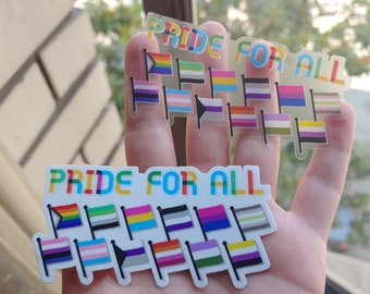 Pride For All - small stickers